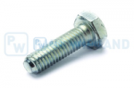 Hex head screw DIN/ISO 933/4017 M6x20 galvanised 8.8