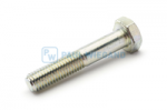 Hexagon head bolt with shank DIN/ISO 931/4014 M10x55 galvanised 8.8