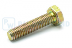 Hex head screw DIN/ISO 933/4017 M8x35 galvanised 10.9