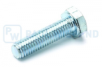 Hex head screw DIN/ISO 933/4017 M8x30 galvanised 10.9